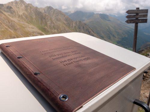 E5 Weitwanderweg Ötztal Timmelsjoch by Roland Klocker Gipfelbuch